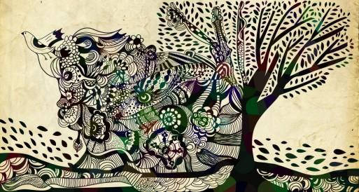 Ilustração digital para mural