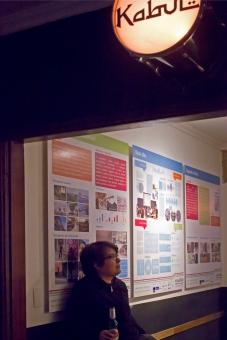 Exposição Mobilize Brasil no Bar Kabul, em SP. 2014. Foto por Diana Freixo